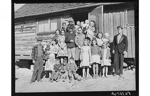 Noah Garland Family, Kentucky, 1940