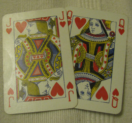 Knave (Jack) & Queen of Hearts from a deck of cards