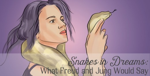 According to Freud, snakes in dreams symbolize the penis and repressed sexual desire. Jung, however, wrote that snakes represent a conflict between the conscious mind and the instinct.