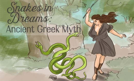 In Greek myth, the snake symbolizes transformation. Tiresias, upon finding a pair of mating snakes, kills one of them and then turns into a woman.