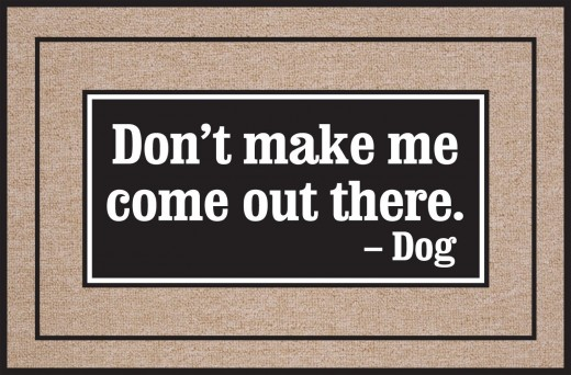 Find lots of funny doormats at Amazon