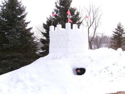 Snow Forts might protect you!