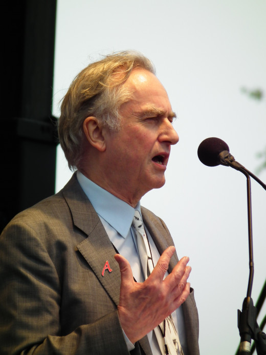 The atheist Reason Rally in D.C, Richard Dawkins speaking. A man so certain God does not exist, he goes on speaking tours to talk about it.