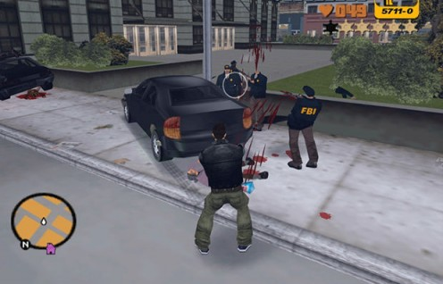 Grand Theft Auto III  Player Graphically Shooting FBI Agents