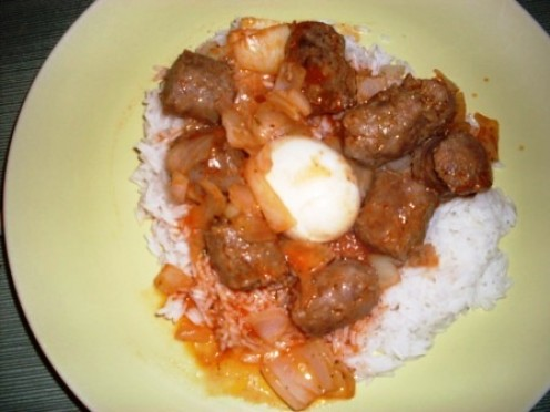 sausage OR minced meat can be used