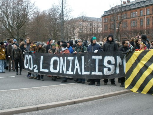 Protest during Cophenhagen COP.  Image by 'EPO', courtesy Wikimedia Commons.