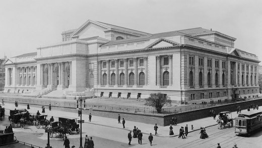 NYC Public Library in Manhattan in the 19th century