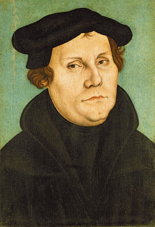 The Reformer, Martin Luther. Painted by Lucus Cranach in 1528