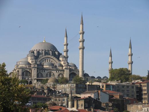 Suleiymaniye Mosque - Located in Turkey - Built by Sultan Suleiyman