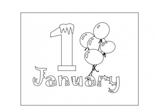 January Coloring Sheet