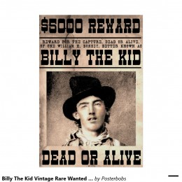 Wanted Poster of Billy the Kid