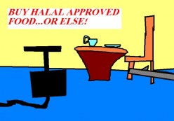 Buy Halal approved - or else! Is the threat there in parts of NSW, Australia? Hopefully this is not the case.