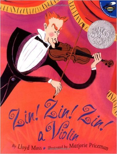 Zin! Zin! Zin! A Violin (Aladdin Picture Books) by Lloyd Moss