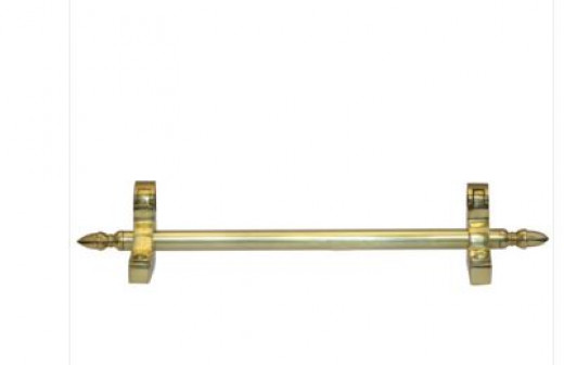 A heavy duty polished brass traditional stair rod runner. Be sure to choose solid brass rather than an electro-plated alternative. The brackets are designed to be fixed at carpet edge.