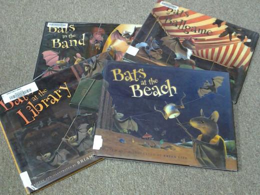 Brian Lies' four bat books at our local public library