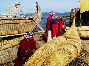 Lake Fishermen Titicaca - Bolivia