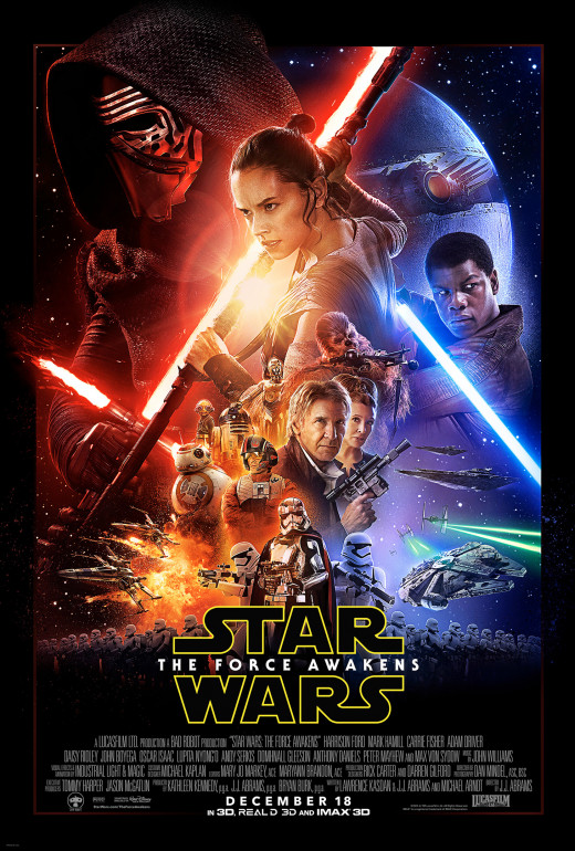 Poster for J.J. Abrams Star Wars: The Force Awakens