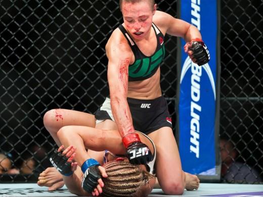 Rose Namajunas in her win over Paige VanZant