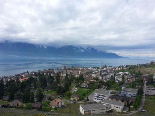 View of Geneva Lake from Golden Pass Train