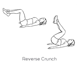 A bit more challenging of a crunch. Here you'll bend and keep your legs parallel to the floor, lifting from your hips to bring your knees to your chest