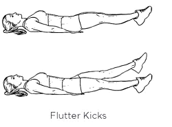 This is a laying alternative to the above flutter kicks.