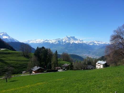 Alps as seen from Leysin
