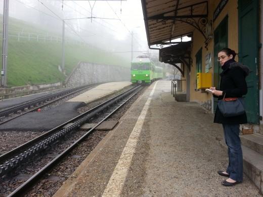 Cogwheel Train @Leysin Station