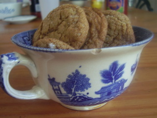 Image:(c)Marye Audet 2007 Homemade Cookies in a vintage cup makes a great gift.