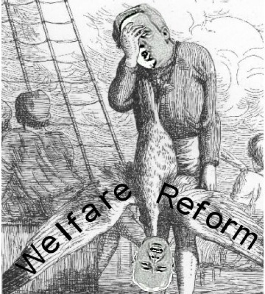 Cartoon Of The Conservatives Controversial Welfare Reforms.