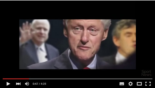 """Bill Clinton, whom ISIS identifies as one of the """"Fornicators"""" in its latest recruiting video."""