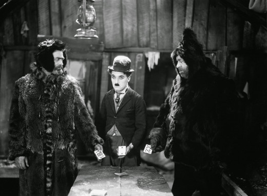 Chaplin (centre) is the heart and comedic soul of the film, as well as the narrator