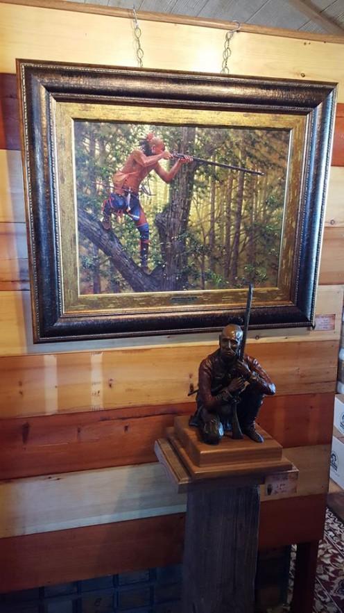 Woodland Indian by Artist Doug Hall, Neosho, Missouri