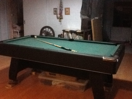 The pool table
