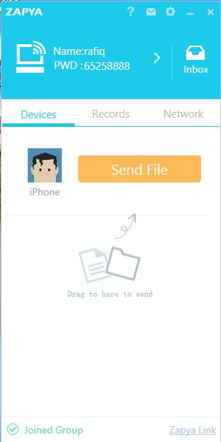"Use ""Send it"" on Zapya to Send Files to Your iPhone"