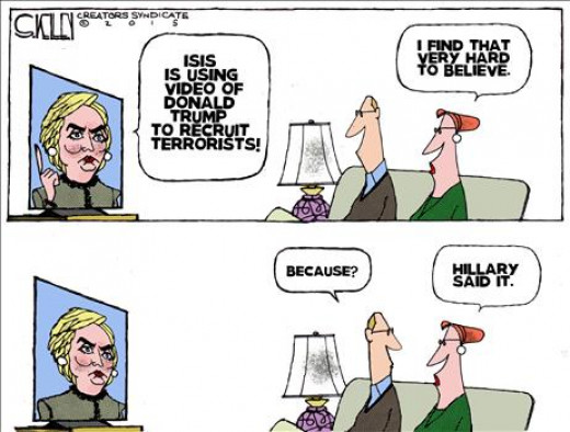 Town Hall cartoonist Steve Kelly nails the feeling among many Americans that Hillary Clinton simply cannot be trusted.