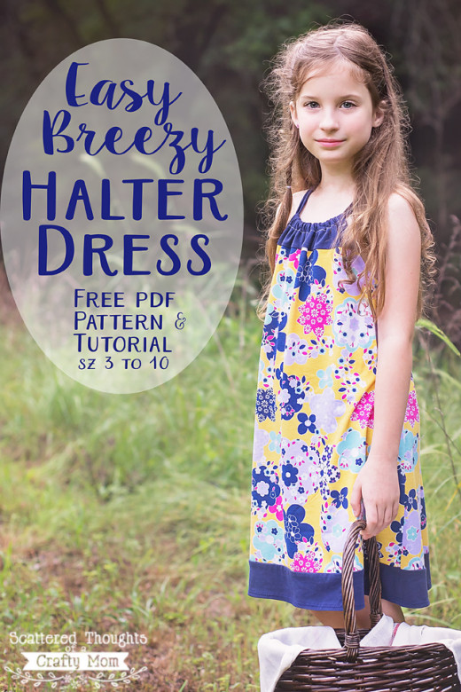 An easy to sew Halter Neck Dress Sewing Pattern