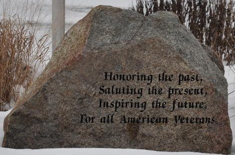 Part of the Memorial at Whitewater Memorial State Park