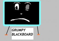 Grumpy blackboard was a star character in Mr. Squiggle.