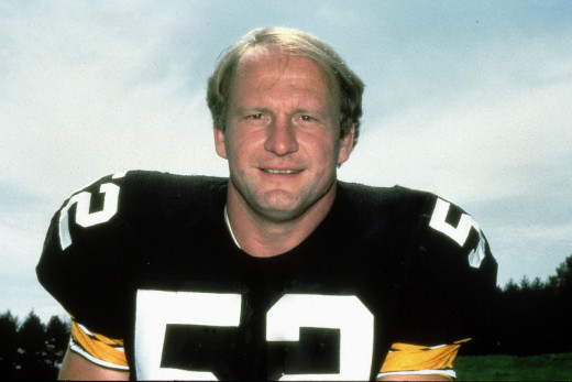 Mike Webster,; Center for the Pittsburgh Steelers