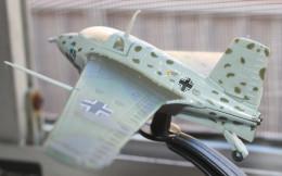 Model of a German rocket plane. This aircraft killed more German pilots than American airmen.