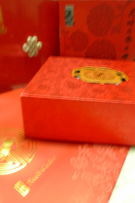 Mooncakes in collectible gift boxes