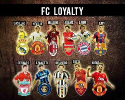 13 Loyal football players