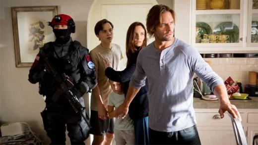 "Josh Holloway, Sarah Wayne Callies, Isabella Cramp and Alex Neustaedter in ""Colony""."