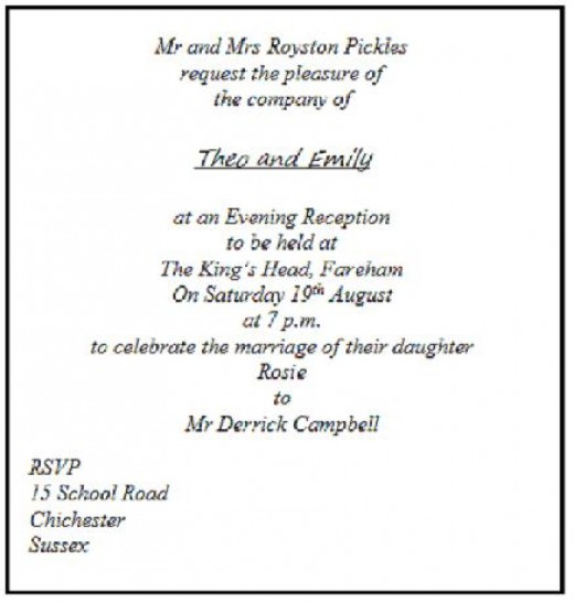 Wedding invitation etiquette, when inviting guests only to the wedding reception.