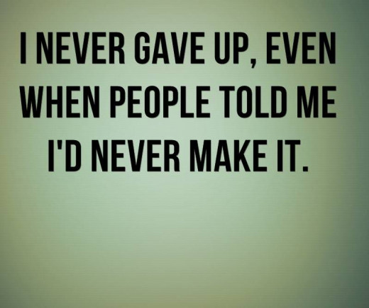 Never Gave Up