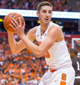 It would be nearly impossible for Tyler Lydon to shoot better as a sophomore, but he should be more of a presence in the post with a stronger frame.