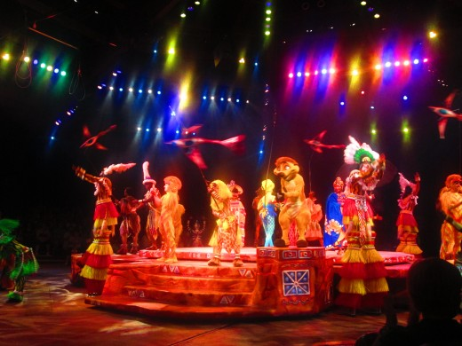 Animal Kingdom - Festival of the Lion King show (the arena was much smaller than I expected)