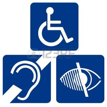 Along with signs for the handicapped, some cities have signs for the deaf. This is typically used around a deaf school. Drivers are able to be extra careful to avoid accidents because of this type of warning.