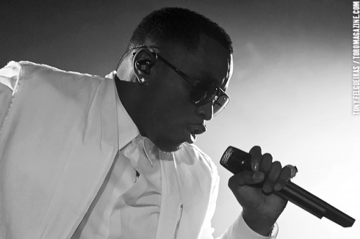 Sean Combs in performance mode
