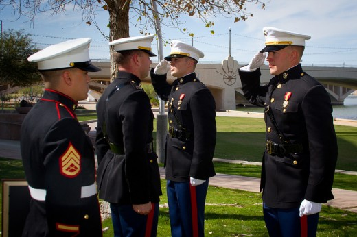 Marine cadets experience commission.